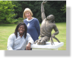 Christine Charlesworth with Ade Adepitan MBE