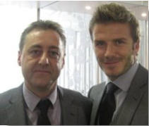Tim with David Beckham